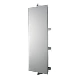 "Ali Stainless Steel Rectangular Wall Mounted Turning Mirror 11 13/16"" x 31 7/16"" x 7 5/16"" in Stainless Steel"