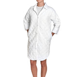 Poole Quilted Shirt Robe Large in White
