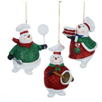 Snowman Baking Christmas Ornaments (Set Of 12)