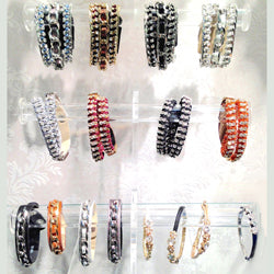 Leather Bracelet Assortment With Display 16 Piece Assortment