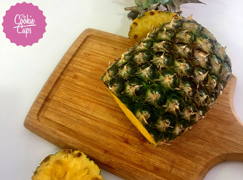 cut a pineapple step 2