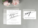 Angelique Tilt Wedding Invitation