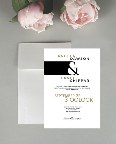 A Modern Wedding Invitation