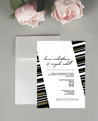 A Geometric Wedding Invitation