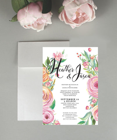 A Floral Dream Wedding Invitation Set