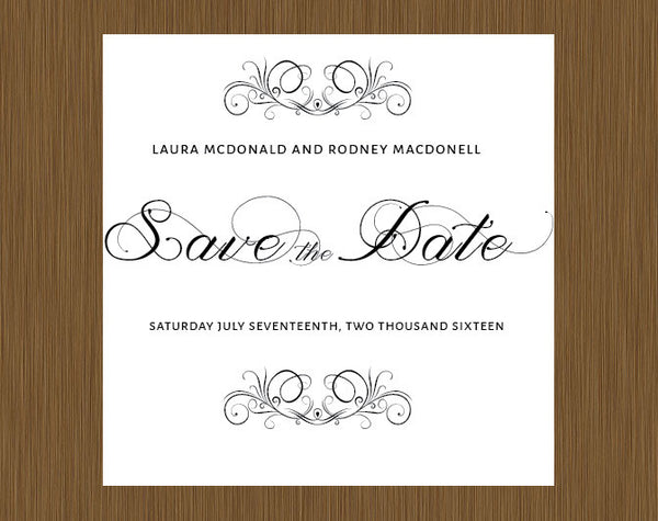 save the date, save the dates, classic save the date, simple save the date