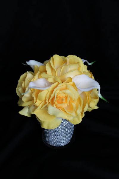 Calla Lily and Rose Centerpiece