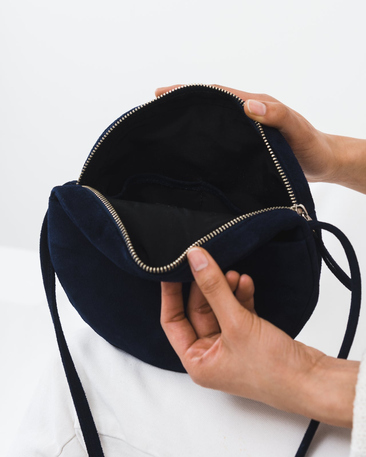 Circle Purse - Midnight Suede