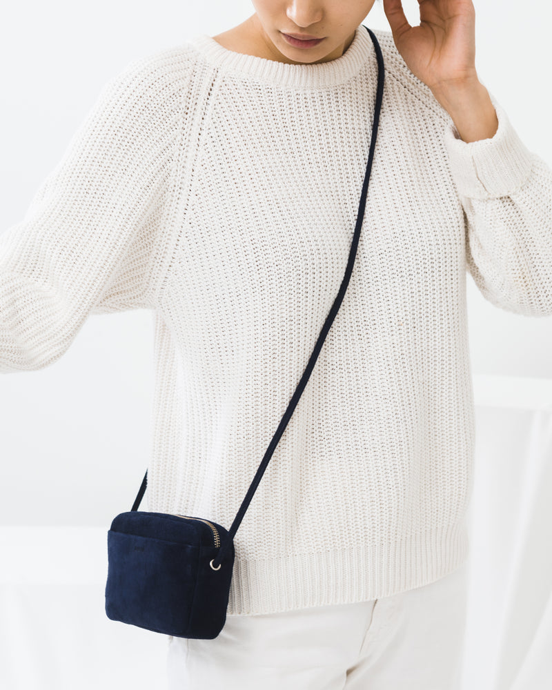 Mini Purse - Midnight Suede