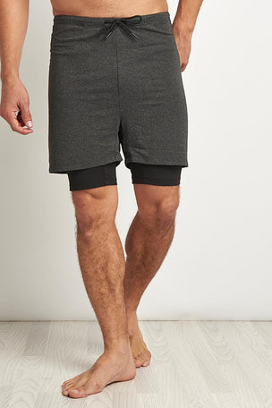 OHMME 2 Dogs Yoga Shorts - Graphite image 1 - The Sports Edit