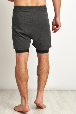 OHMME 2 Dogs Yoga Shorts - Graphite image 2 - The Sports Edit
