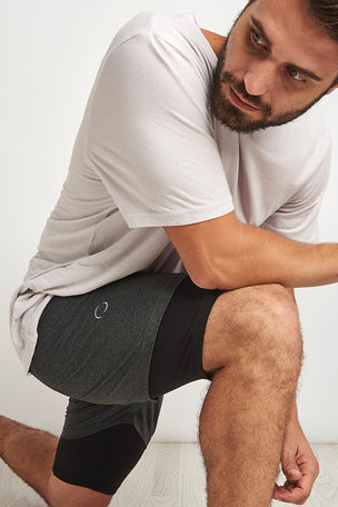OHMME 2 Dogs Yoga Shorts - Graphite image 3 - The Sports Edit