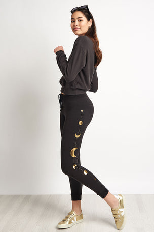Spiritual Gangster Moon Muse Pant - Vintage Black image 4 - The Sports Edit