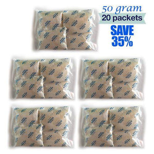 50 Gram Silica Gel (Total 20 packets) - Desiccants in Malaysia & Singapore | SilicaGelly