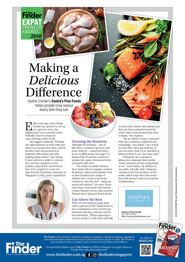 Making a Delicious Difference, The Finder