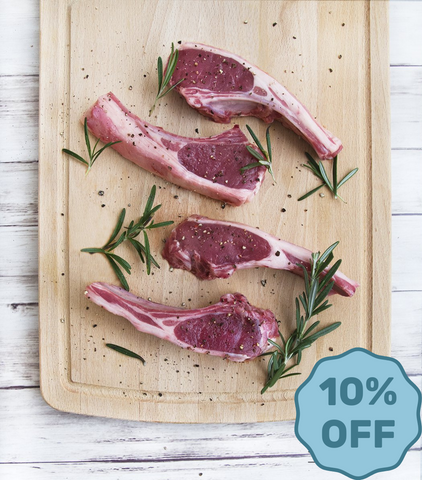 Welsh Lamb Bone In Cutlets (Twin Pack)