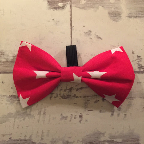 The Black Dog Company Bow Ties Red with White Stars Bow Tie