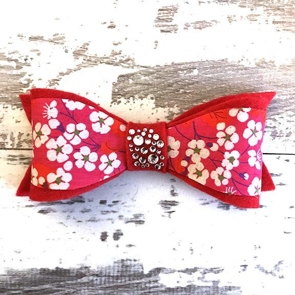 The Black Dog Company Felt Bows Japanese Cherry Blossom Felt Bows