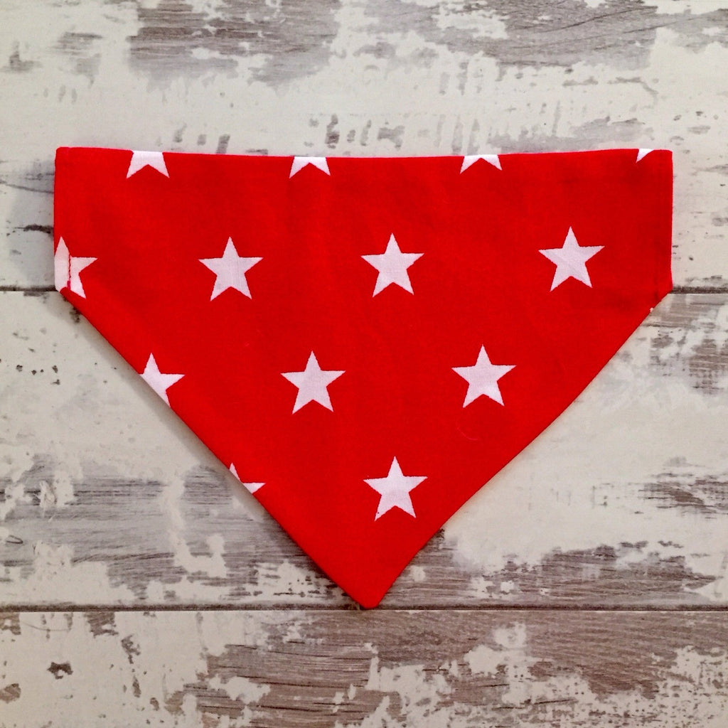 The Black Dog Company Red with White Stars Bandana