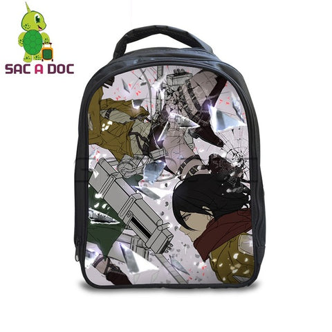 13 Inch Anime Attack on Titan Backpack Kids Kindergarten School Backpack Boys Girls Eren Levi School Bags Daily Backpack Shop3126025 Store 1