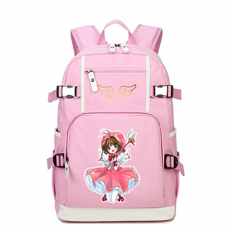 2018 Japanese Anime Card Captor Printing Backpack Mochila Feminina SAKURA Kawaii Women Should Bags Canvas School Bags Rucksack The Pocket Store 1