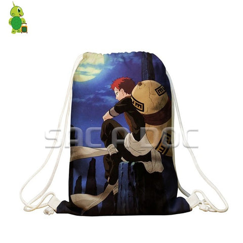 Anime Naruto/Boruto Drawstring Bag 3D Naruto Sasuke Printing Softback Travel Bags for Teenage Boys Girls School Storage Bags Anime Bag World Store 1