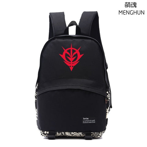 Cool school backpack anime game fans Gundam backpack Mobile suits Gundam EFSF ZICK ZION! concept daily use nylon backpacks NB175 MENGHUN Anime Store 2