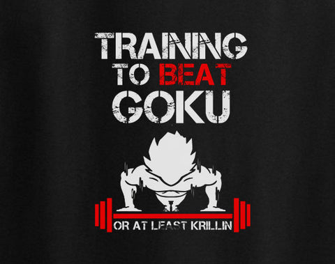 Dragon Ball Dragonball Z Training to beat Goku or least Krillin T-Shirt - Animetee - 1