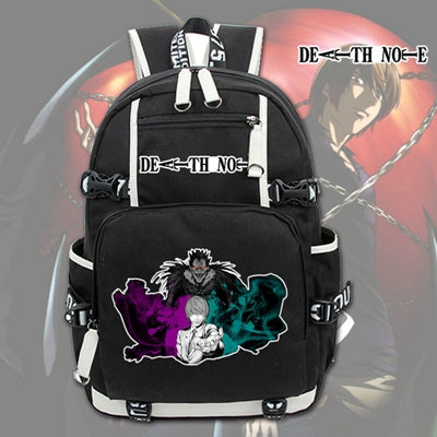 New Japanese Anime Death Note Laptop Backpack Cosplay Cartoon Unisex Student School Bags Bookbag Travel Black Bag anime-bar Store 1