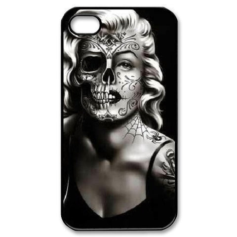 Marilyn Monroe Fashion Half Skull Face Case for iphone 4 4s 5 5s 5c 6 6s 6plus 6s plus Celebs - Animetee - 1