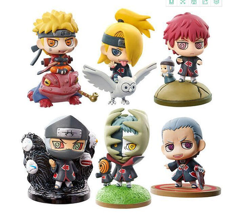 Naruto Sasauke ninja 6pieces/set  Uzumaki  Zetsu Anime Action Figure PVC toys Collection figures for friends gifts AT_81_8