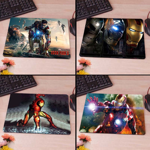 Ironman Iron Man Tony Starks War  Computer Mouse Pad Mousepad Decorate Your Desk Non-Skid Rubber Pad hwd celebs - Animetee - 1