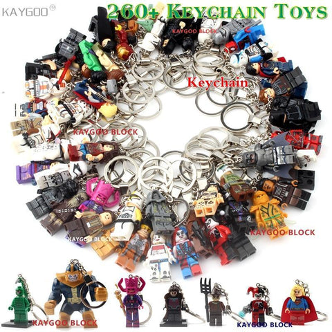 Deadpool Dead pool Taco Super Hero Iron Man Figure Keychain Batman  Thor Captain America Black Panther Building Block Toys Brick Model DIY Toys AT_70_6