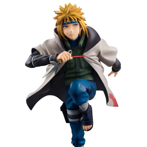 Naruto Sasauke ninja Anime  Hurricane Minato Namikaze Fourth Hokage PVC Action Figure Figurine Resin Collection Model Toy Doll Gifts Cosplay AT_81_8