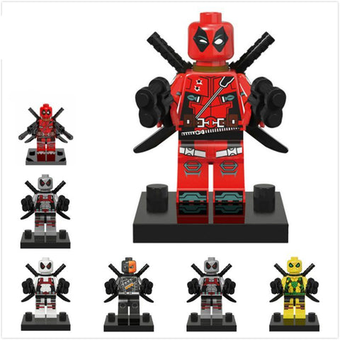 Deadpool Dead pool Taco 5CM Building Blocks  DTY 6 Styles Marvel Super Heroes Avengers Models Building Block Figure Sets Toys Gifts for Children AT_70_6