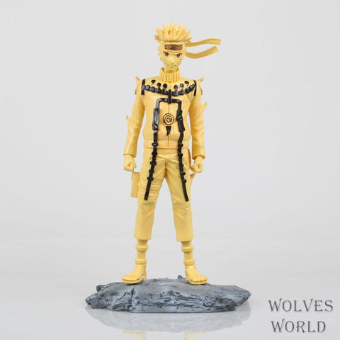 Naruto Sasauke ninja  action figure FINALCAST model Uzumaki  kyuubi Pattern doll decoration pvc collection figurine toys for gifts 25.5cm AT_81_8