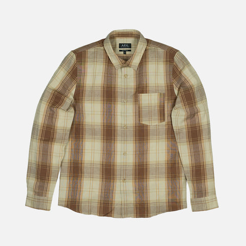 STEEVE PLAID WOVEN - BEIGE