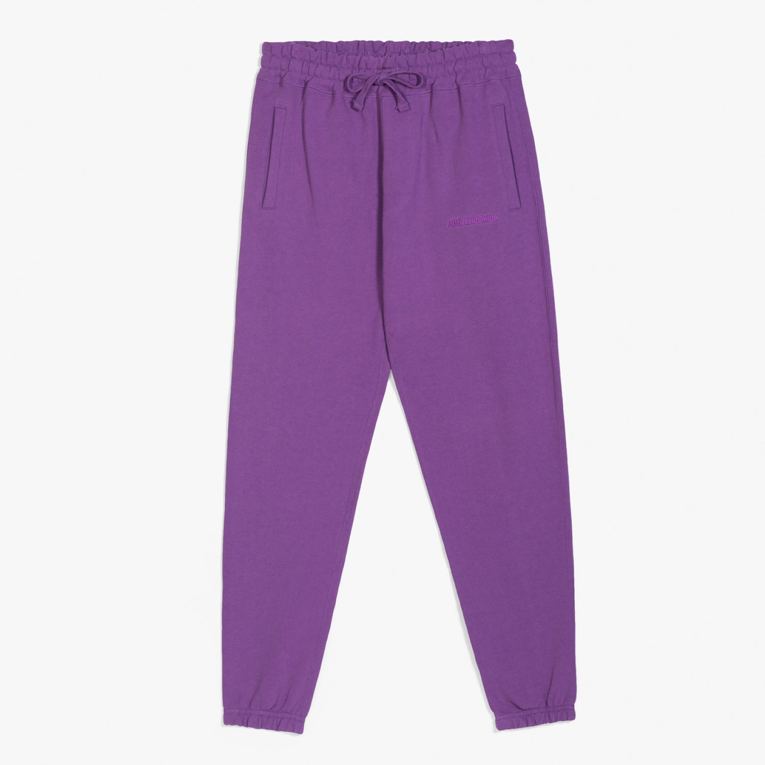 FRENCH TERRY SWEAT PANTS - PURPLE
