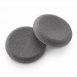Gray Foam Ear Pads For Office Style Headsets - 1 Pair - for Plantronics, Jabra, Smith Corona Corded Headsets - Headset World USA - Your Headset Solutions