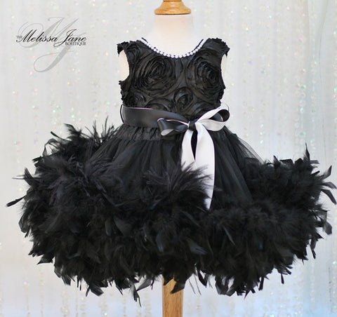 Angel Dream Dress with a Hint of Ostrich Feathers - MelissaJane Designs