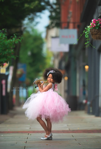 pink girls tutu dress