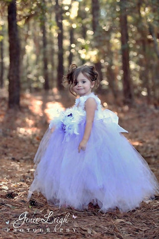 Ostrich Dress, Flower Girl Dress, Girls, Feather Dress, MelissaJane, MelissaJane Boutique - 1