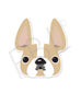 Honey Pied / French Bulldog Mini Sticker - French Bulldog Love - 1