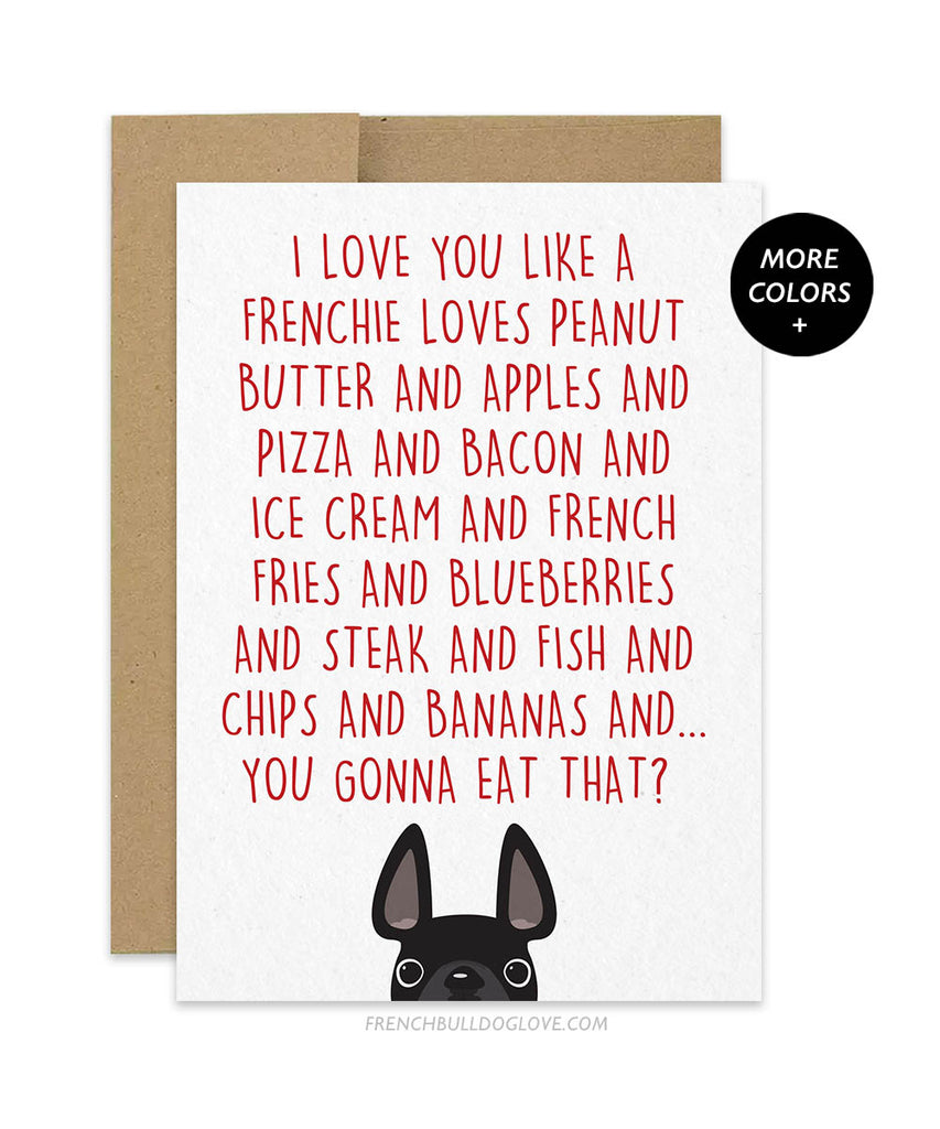I Love You Like... - Card - French Bulldog Love - 1