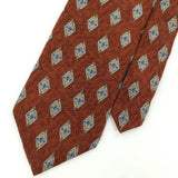JOS A BANK MADE IN ITALY BROWN GEOMETRIC Silk Men Classic Necktie I2-186 Ties