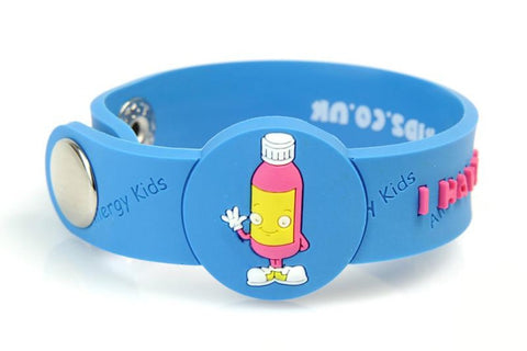 """I Have A Penicillin Allergy"" medical alert bracelet for kids"