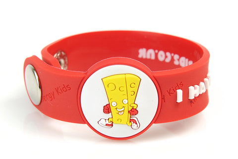 """I Have A Dairy Allergy"" medical alert bracelet for kids"