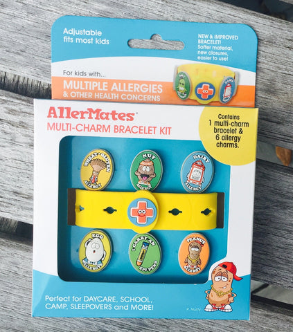 Multi-Charm Kit: Bracelet + 6 Allergy Charms (now including EpiPen charm)