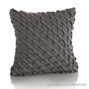 Grey Pintuck Pillow