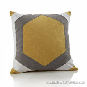 Yellow Grey Pillow